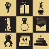 Ícones do dia de Valentim Elementos do dia de Valentim Objetos do dia de Valentim Imagem de Stock