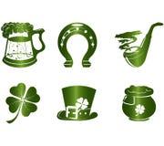 Ícones do dia do St. Patrick Imagem de Stock
