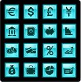 Ícones do dinheiro Fotos de Stock Royalty Free
