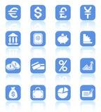 Ícones do dinheiro Fotografia de Stock Royalty Free