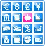 Ícones do dinheiro imagem de stock