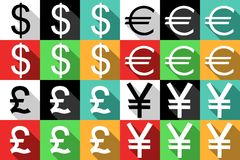 Ícones do dinheiro Imagem de Stock Royalty Free
