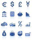 Ícones do dinheiro Fotos de Stock