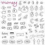 Ícones do dinheiro ilustração royalty free