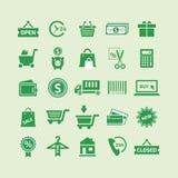 Ícones do dinheiro Foto de Stock Royalty Free