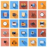 Ícones do dispositivo Imagens de Stock
