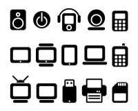 Ícones do dispositivo Fotos de Stock
