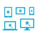 Ícones do dispositivo Foto de Stock