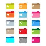 Ícones do dobrador Fotografia de Stock