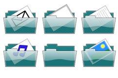 Ícones do dobrador Fotos de Stock