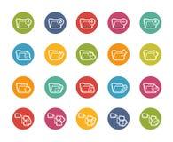 Ícones do dobrador - 1 de 2 -- Série de Printemps Imagem de Stock Royalty Free