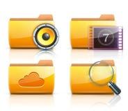 Ícones do dobrador do computador Fotografia de Stock