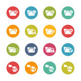 Ícones do dobrador - 1 -- Série fresca das cores Imagens de Stock