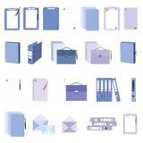 Ícones do documento e de originais ajustados Imagem de Stock
