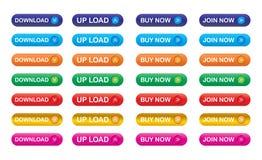 Ícones do Download Fotografia de Stock