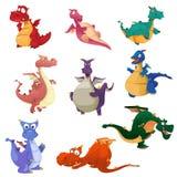 Ícones do dragão Imagens de Stock Royalty Free