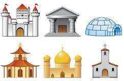 Ícones do edifício Fotos de Stock