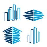 Ícones do edifício ilustração royalty free