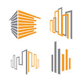 Ícones do edifício Foto de Stock Royalty Free