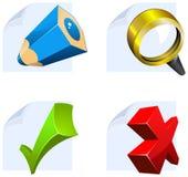 Ícones do editor para a Web Fotografia de Stock Royalty Free