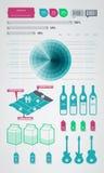 Ícones do elemento de Infographics Fotografia de Stock
