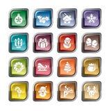 Ícones do elemento do Natal ilustração royalty free