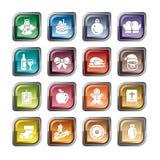 Ícones do elemento do Natal ilustração stock