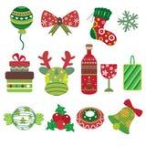 Ícones do elemento do Natal Imagens de Stock