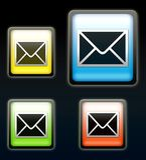 Ícones do email Imagem de Stock Royalty Free