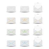 Ícones do email ilustração stock