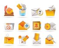 Ícones do email e da mensagem Fotografia de Stock