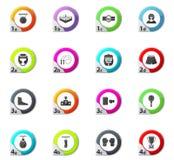 Ícones do encaixotamento ajustados Imagens de Stock Royalty Free