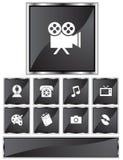 Ícones do entretenimento Fotografia de Stock