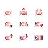 Ícones do envelope Fotos de Stock Royalty Free