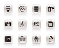 Ícones do equipamento da fotografia ilustração do vetor