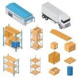 Ícones do equipamento do armazém Foto de Stock Royalty Free