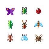 Ícones do erro do inseto Foto de Stock