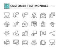 Ícones do esboço sobre homenagens do cliente Fotografia de Stock Royalty Free