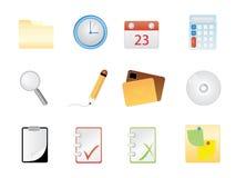 Ícones do escritório Foto de Stock