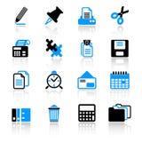 Ícones do escritório Imagens de Stock