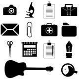 Ícones do escritório Fotografia de Stock