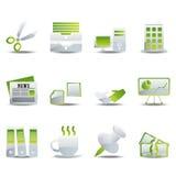 Ícones do escritório ajustados Imagens de Stock Royalty Free
