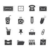 Ícones do escritório ajustados Imagem de Stock