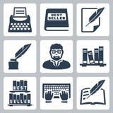 Ícones do escritor do vetor ajustados Imagem de Stock
