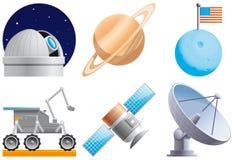 Ícones do espaço Fotografia de Stock