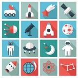 Ícones do espaço ilustração royalty free