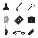 Ícones do espião Imagens de Stock Royalty Free