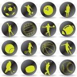 Ícones do esporte Foto de Stock