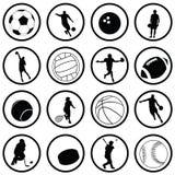 Ícones do esporte Fotografia de Stock