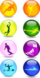 Ícones do esporte ilustração stock